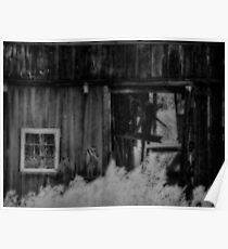 The Old Barn Window Poster