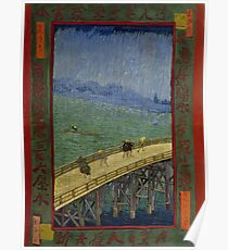 Vincent Van Gogh  - Bridge in the rain after Hiroshige, 1887 Poster