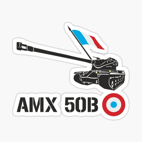 French tank AMX 50B Sticker