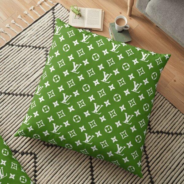 Design Louis V Green Coussin de sol