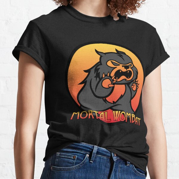 Mortal Wombat Funny Animals for Gamer Classic T-Shirt