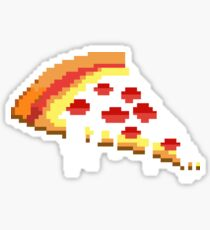 Pizza - 8 bit Sticker
