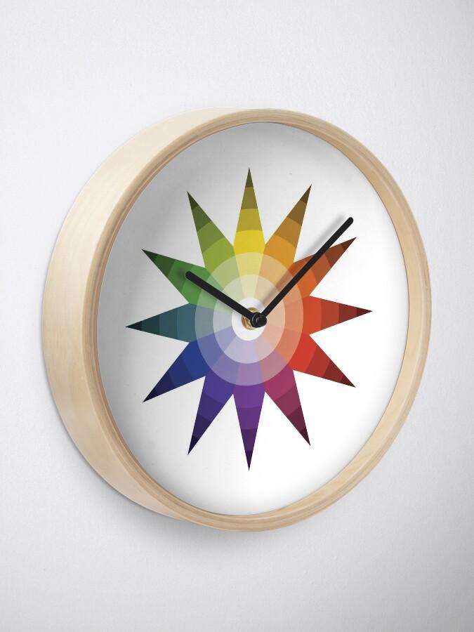 Alternate view of Itten Color Star Clock