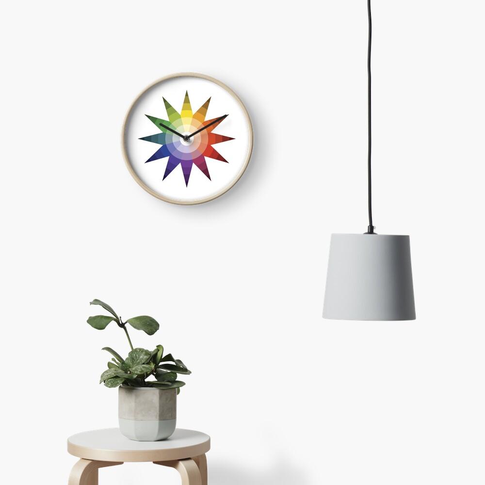 Itten Color Star Clock