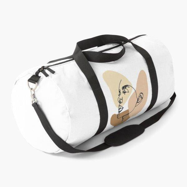 Continuous Line Portrait  Duffle Bag