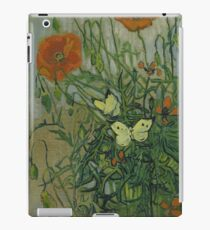 Vincent Van Gogh  - Butterflies and poppies, 1890 iPad Case/Skin