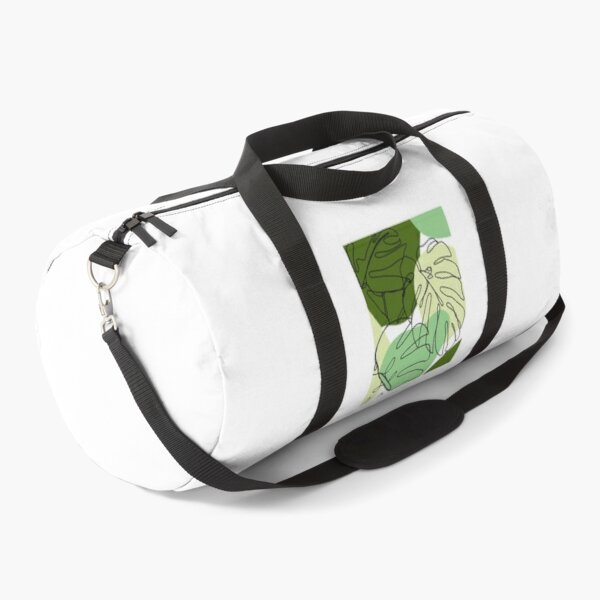 Continuous Line Monstera Duffle Bag