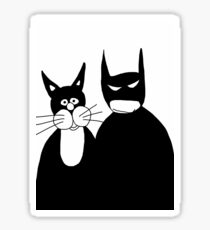 Bat with his Cat Sticker