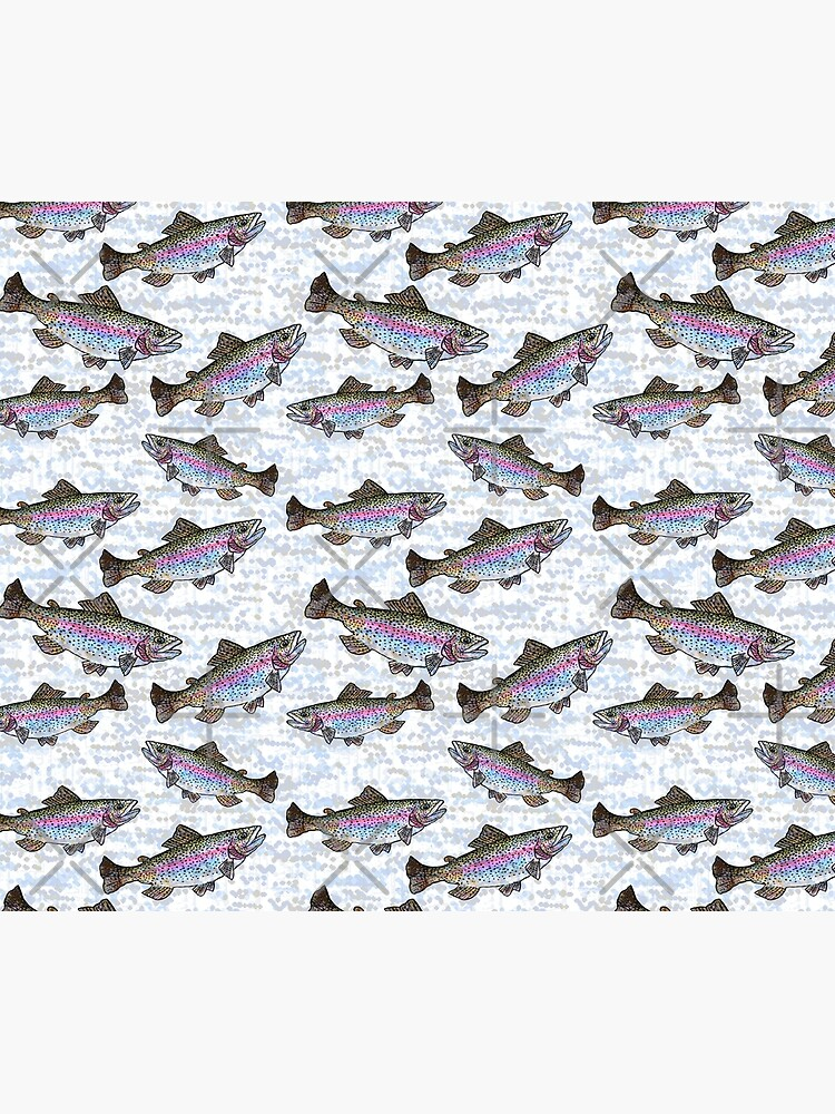 Rainbow Trout Fish Pattern by Michelebuttons