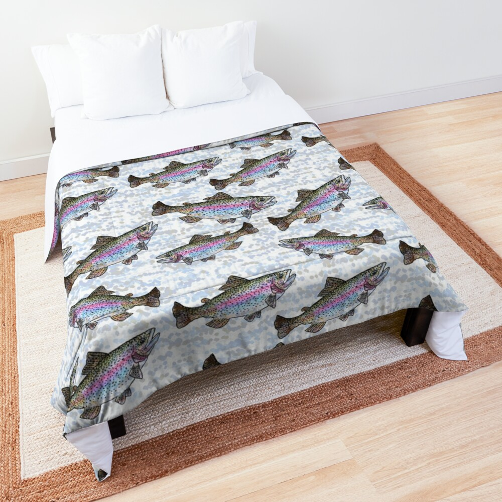 Rainbow Trout Fish Pattern Comforter
