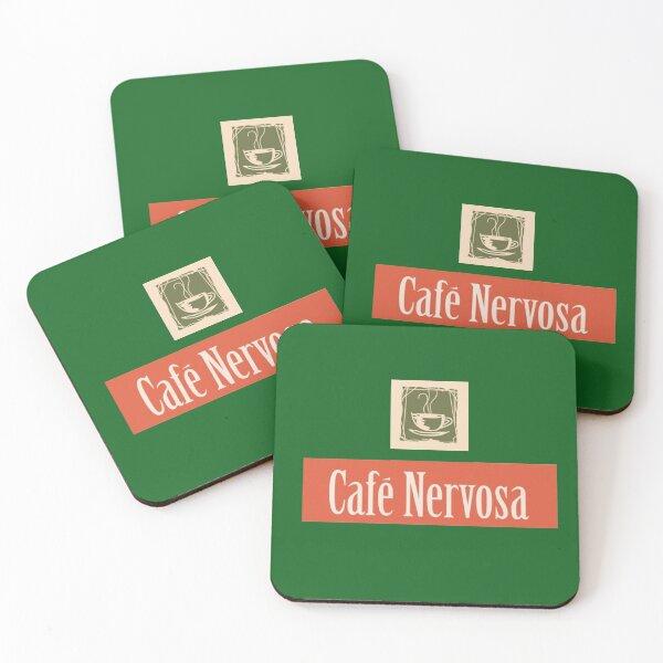 Cafe Nervosa Coasters (Set of 4)