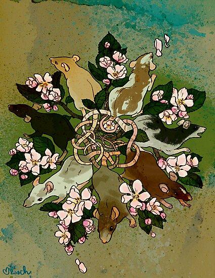 Dark Spring Rat King by RachelRoach