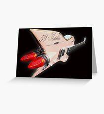 1959 Aluminium Cadillac Guitar Greeting Card