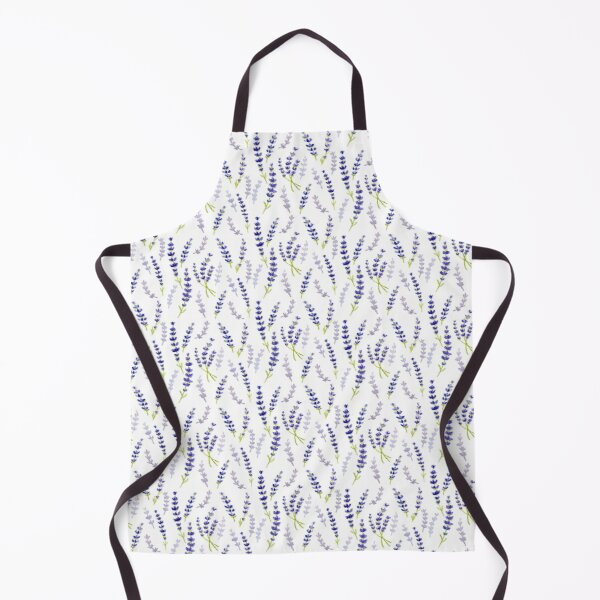 Lavender Pattern Watercolour Painting Apron