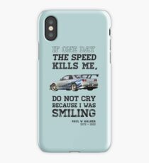 Paul Walker Tribute GTR - Halftone iPhone Case/Skin