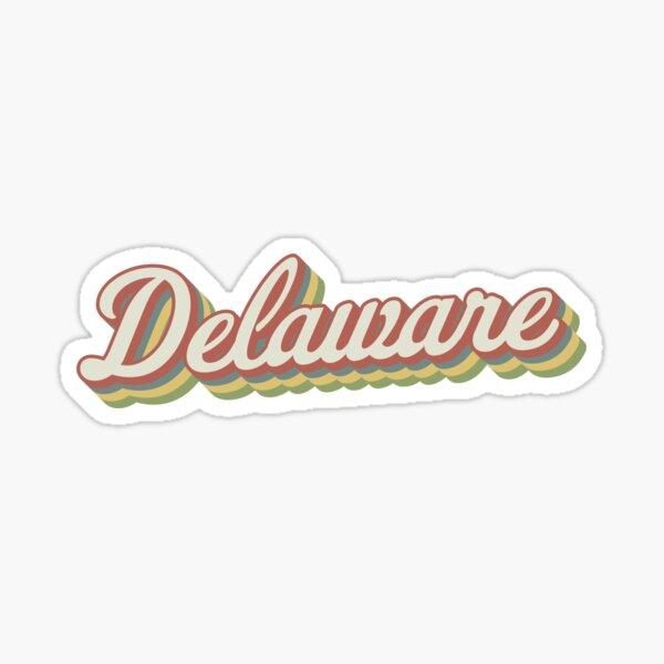 Delaware Retro Sticker Sticker