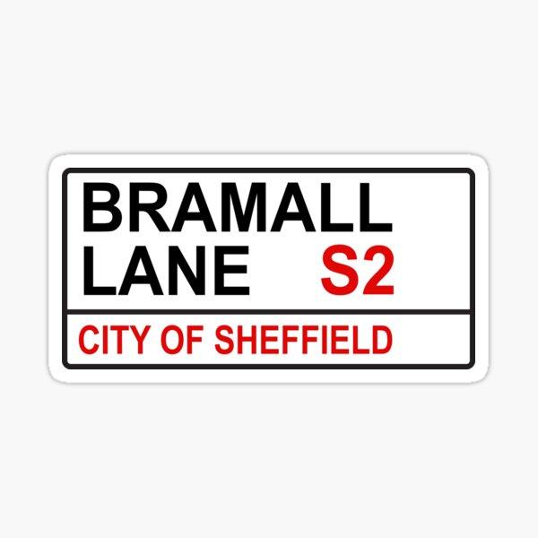Sheffield Football Team Bramall Lane Street Sign Sticker