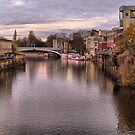 Sunset over River Ouse in York. by Lilian Marshall