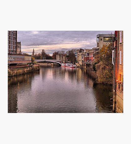 Sunset over River Ouse in York. Photographic Print