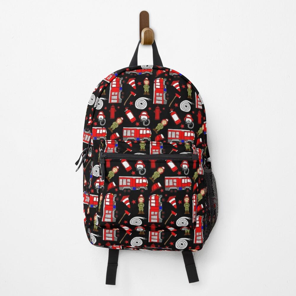 Fireman firefighter pattern 2 Backpack