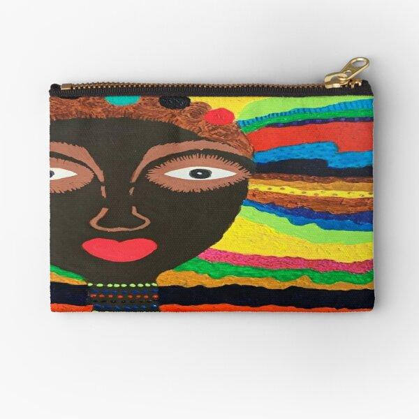African Princess Zipper Pouch