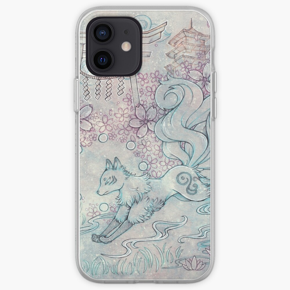 Kitsune Fox with Shinto Shrine iPhone Case & Cover