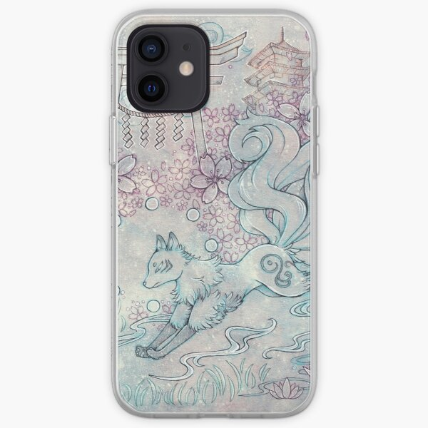 Kitsune Fox with Shinto Shrine iPhone Soft Case
