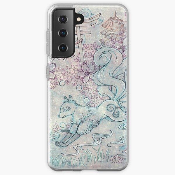 Kitsune Fox with Shinto Shrine Samsung Galaxy Soft Case