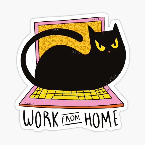 HOME OFFICE CAT  Sticker