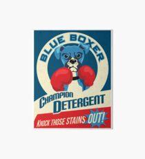 Blue Boxer Dog Champion Detergent Retro Poster- original art Galeriedruck