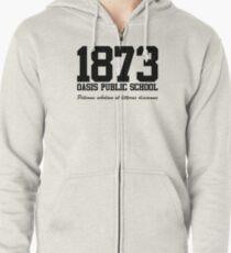 OASIS Public School #1873 - Black Zipped Hoodie