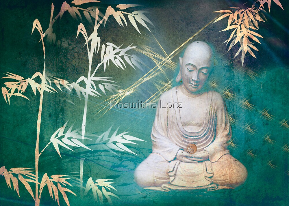 Monk with bamboo by RosiLorz