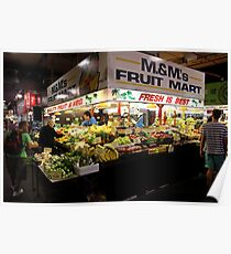 Produce Stall, Adelaide Central Market Poster
