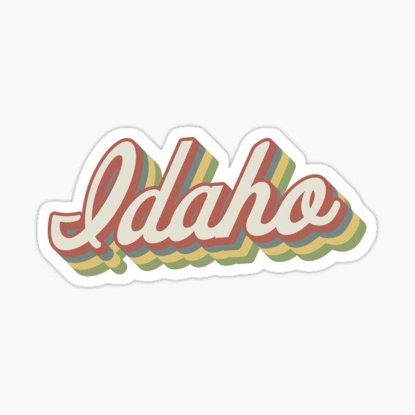 Idaho Retro Sticker Sticker