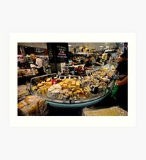 Cheese Stall, Adelaide Central Market Art Print