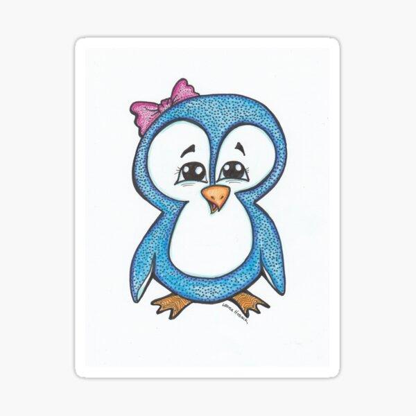 Cute Blue Penquin Sticker