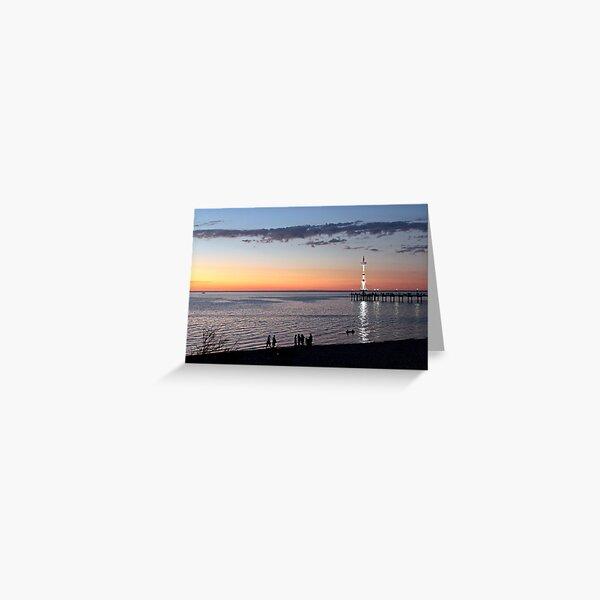 Sunset, Brighton Jetty, Adelaide Greeting Card