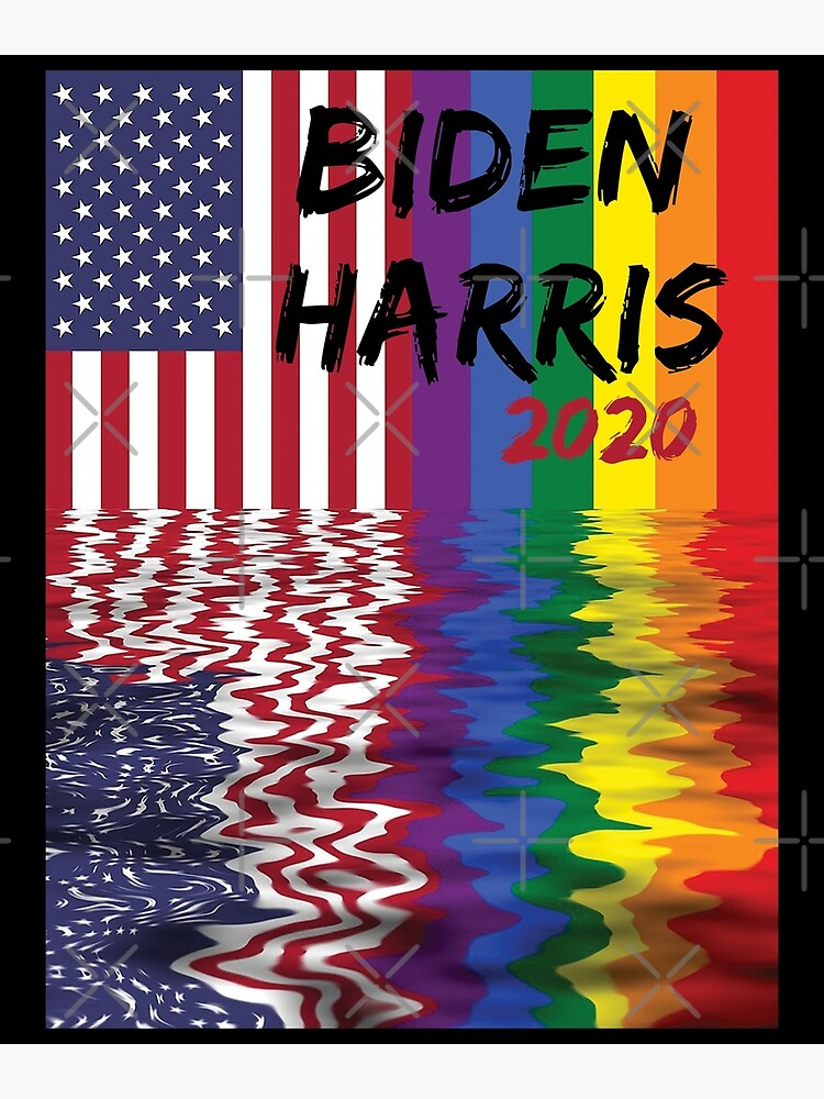 Biden Harris 2020 Pride Flag Greeting Card By Altohombre Redbubble
