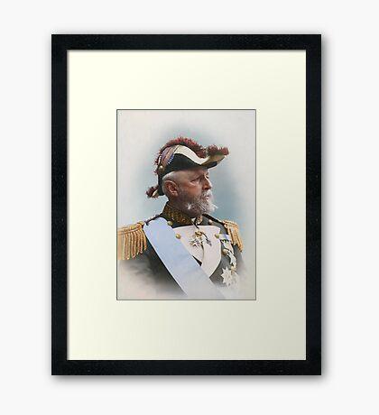 Oscar II, king of Sweden and Norway — ca 1880 Framed Print