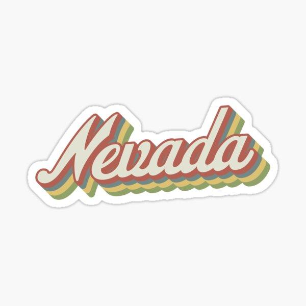 Nevada Retro Sticker Sticker