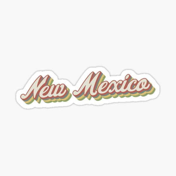 New Mexico Retro Sticker Sticker