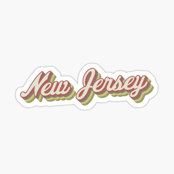 New Jersey Retro Sticker Sticker