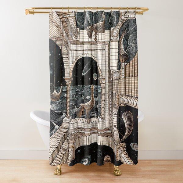 Escher - Another World II Shower Curtain