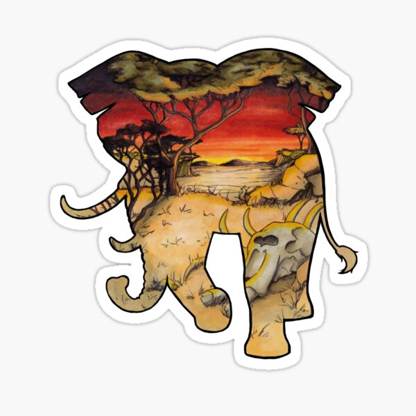 #saveourplanet for the elephants Sticker