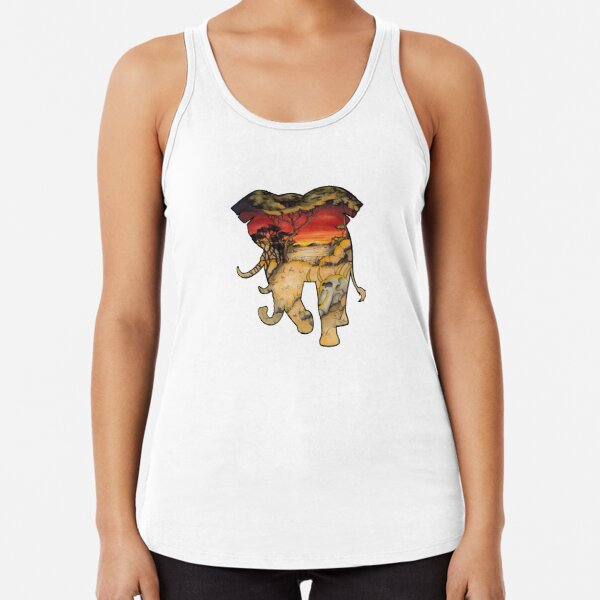#saveourplanet for the elephants Racerback Tank Top