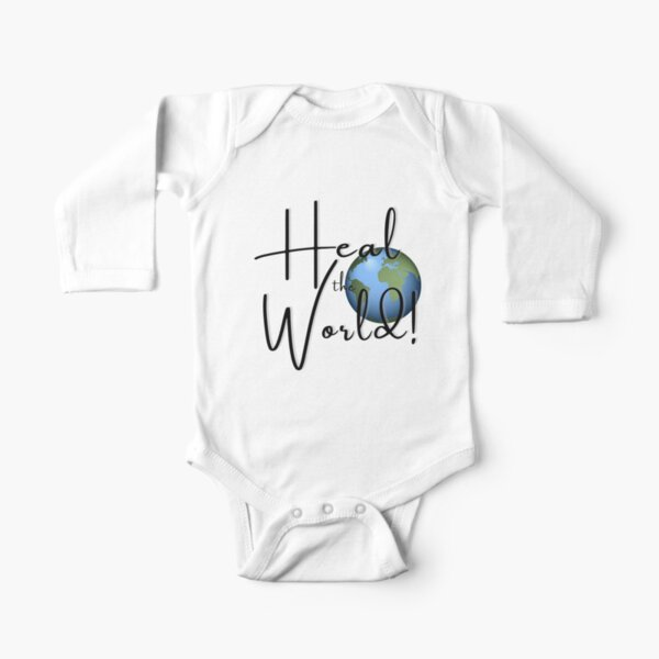 Heal the World! Long Sleeve Baby One-Piece
