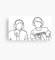 Dan and Phil on BBC Radio 1 Canvas Print