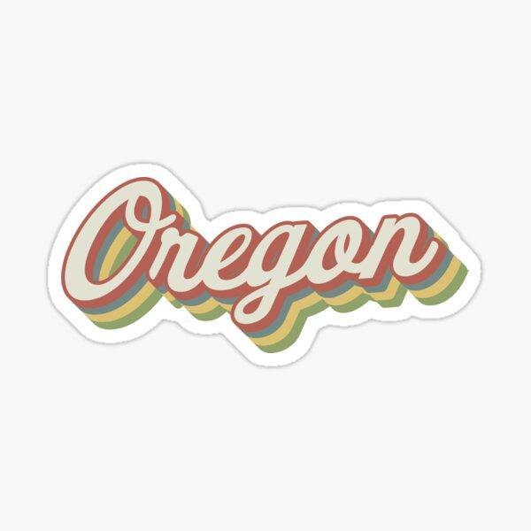 Oregon Retro Sticker Sticker