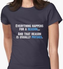 Physics is the Reason Women's Fitted T-Shirt