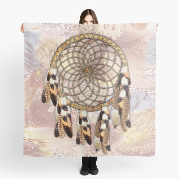 Brown Pelican or Hawk Dream Catcher  Scarf